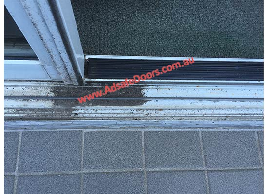 dirty sliding door track