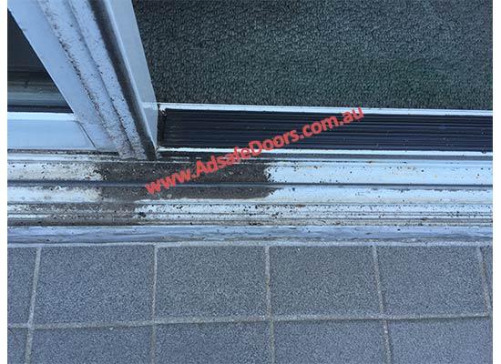 dirty sliding door track