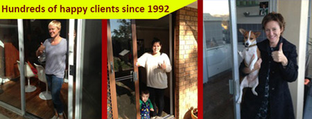 sliding door repairs sydney happy clients