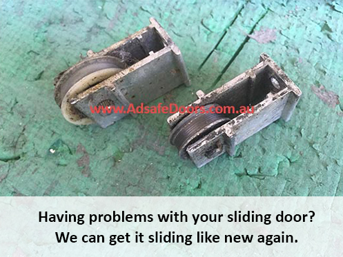 sliding door repairs with broken rollers